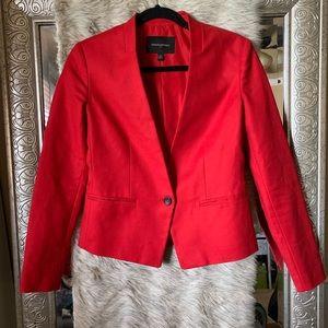 Sz 0 red banana republic blazer